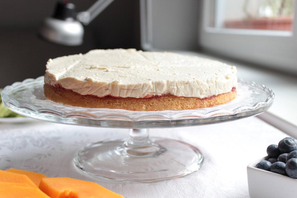 Tvarohová torta bez ovocia
