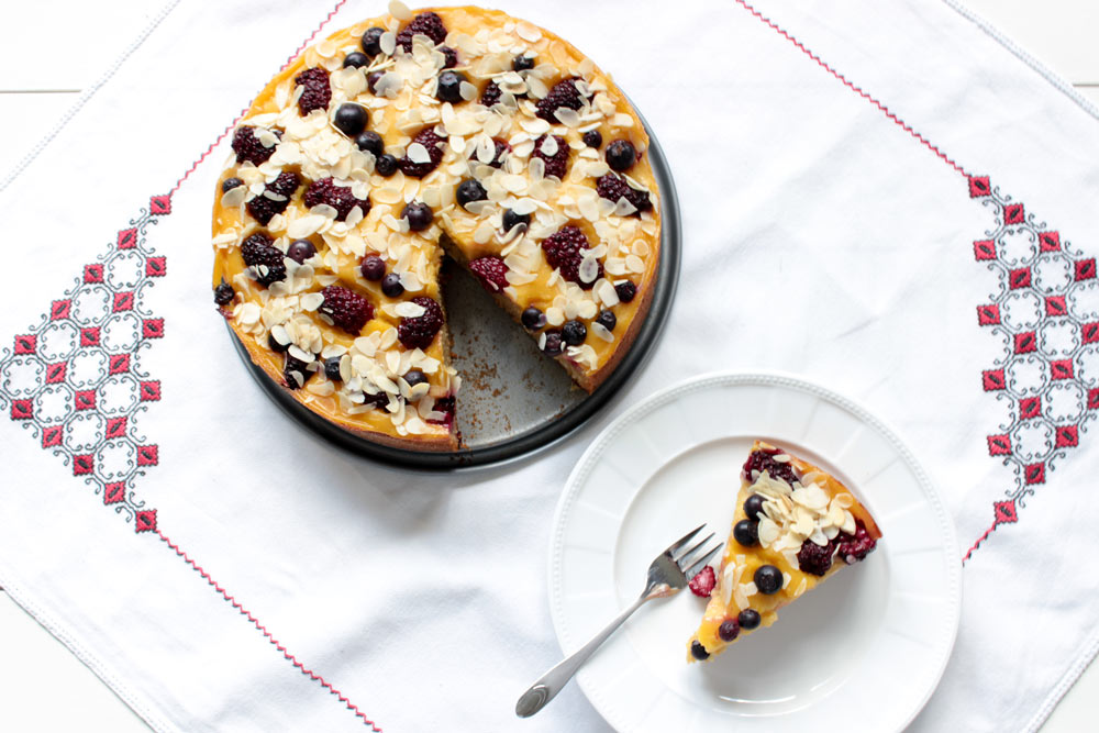 Černicovo – čučoriedkový koláč