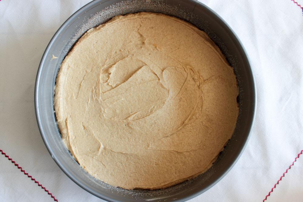 Raw cake dough