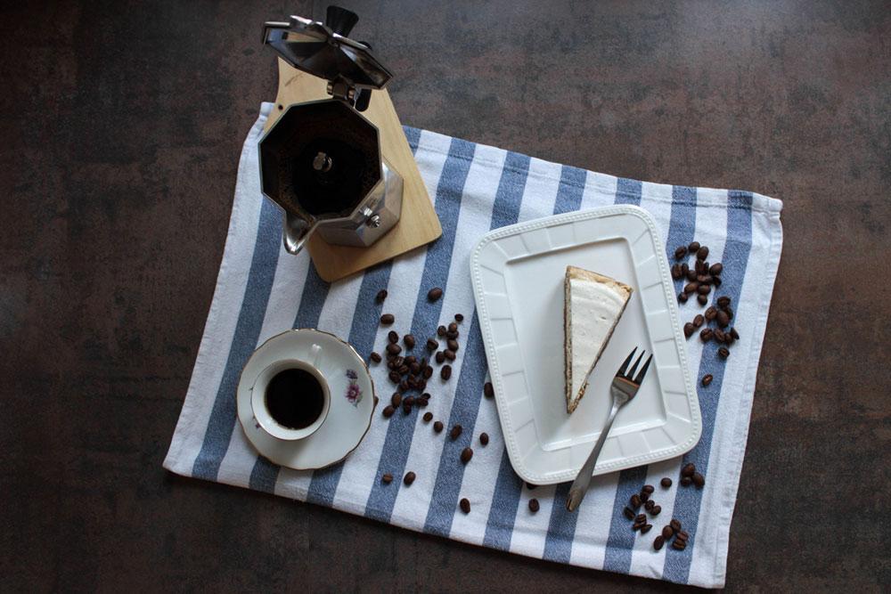 Kávovo-tvarohový koláč