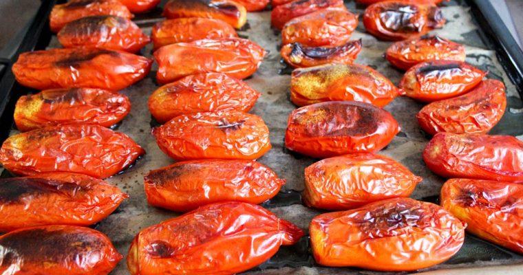 Pečené zavárané rajčiny