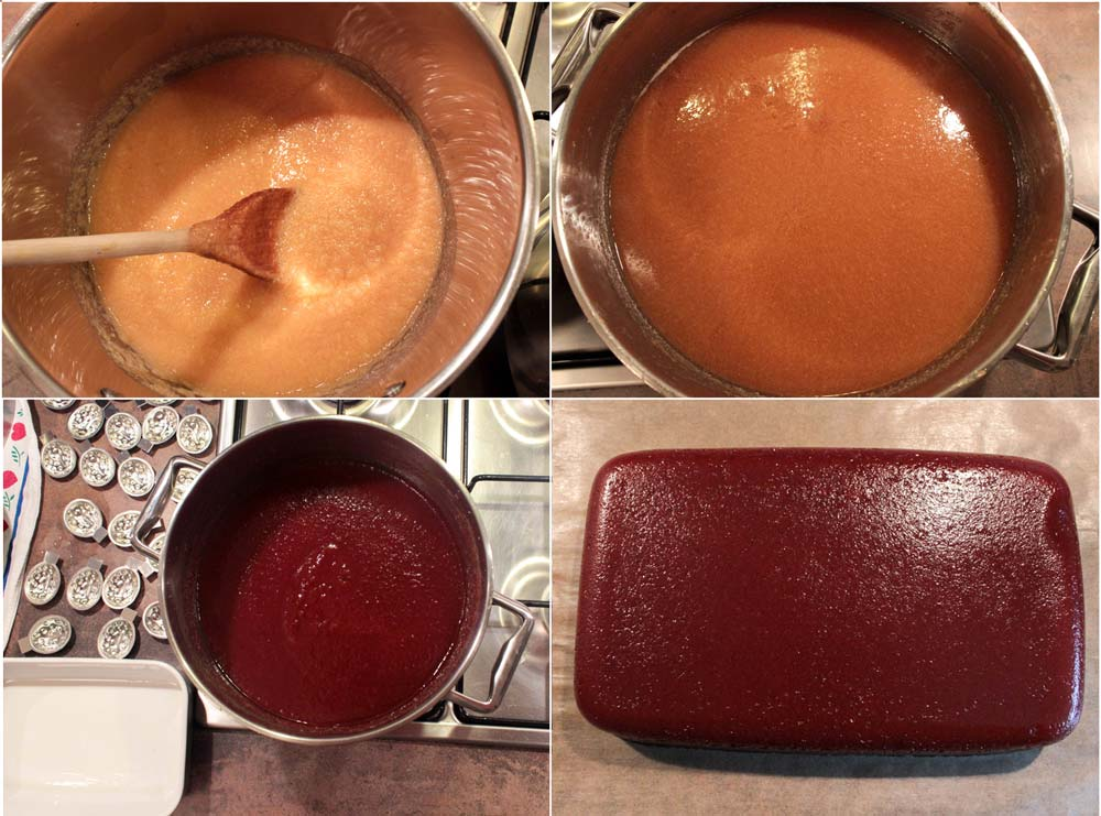Process of preparation - quince jam and cheese