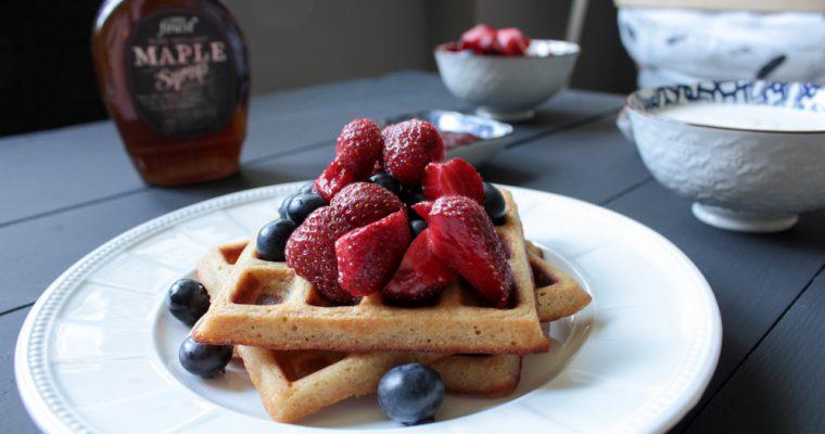 Whole-wheat waffles