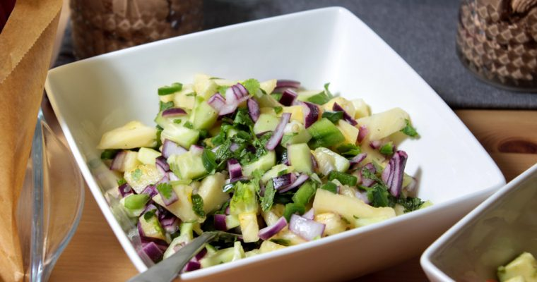Exotic pineapple salad with chili