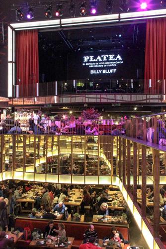 Platea market in Madrid