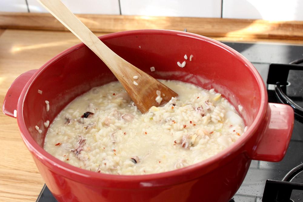 Príprava sépiového rizota