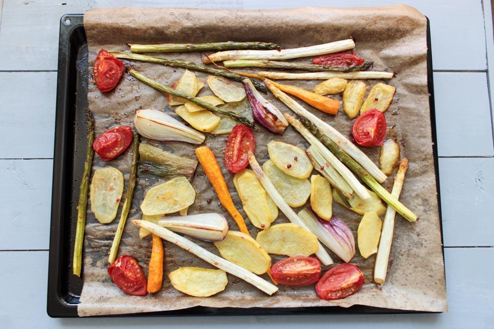 Sezónna pečená zelenina