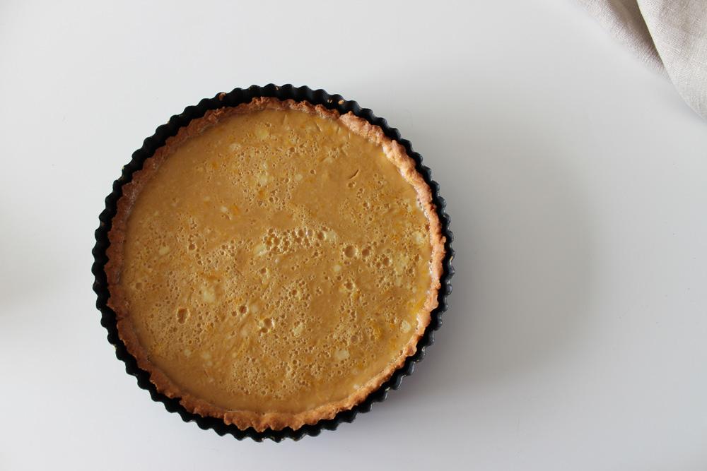 Citrónová tarta s trstinovým cukrom