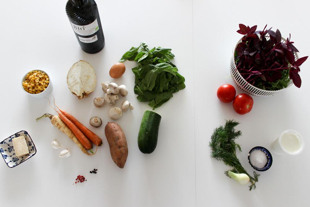 Suroviny na zeleninové placky
