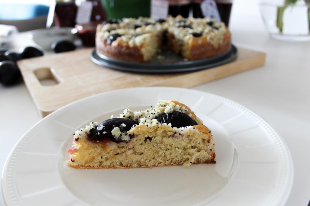 Slivkový koláč z kysnutého cesta