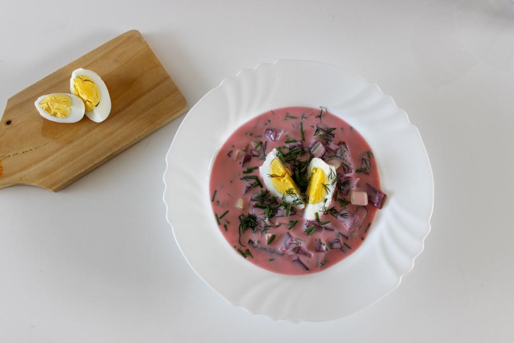 Šaltibarščiai – litovská studená cviklová polievka
