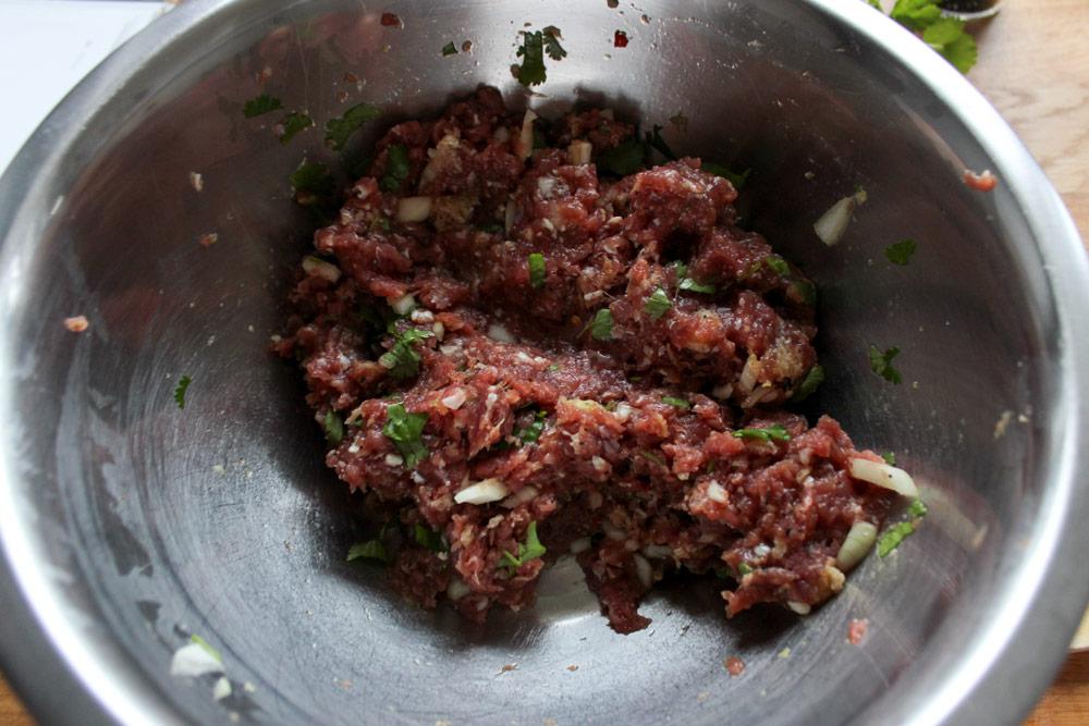 Zmes teľacieho mäsa na plnenie