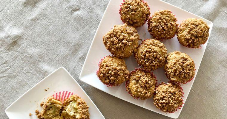 Celozrnné rebarborové muffiny