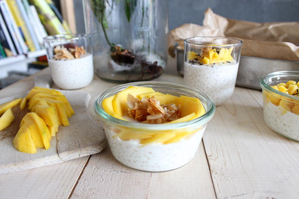 Tapiokový puding s kokosovým mliekom