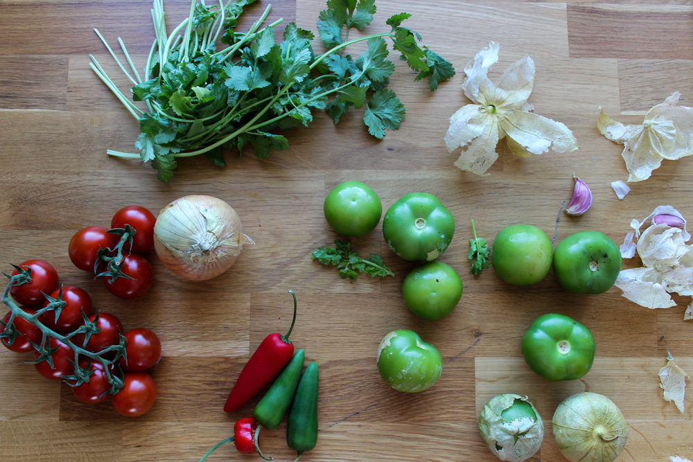 Salsa verde i roja: zelená a červená salsa