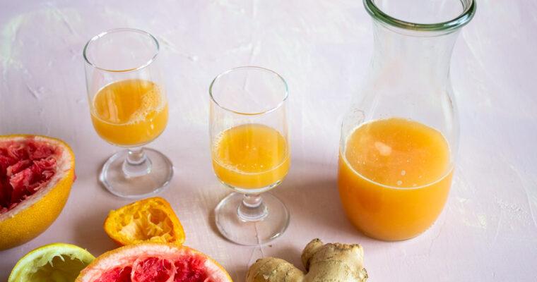 Citrusovo-zázvorový shot