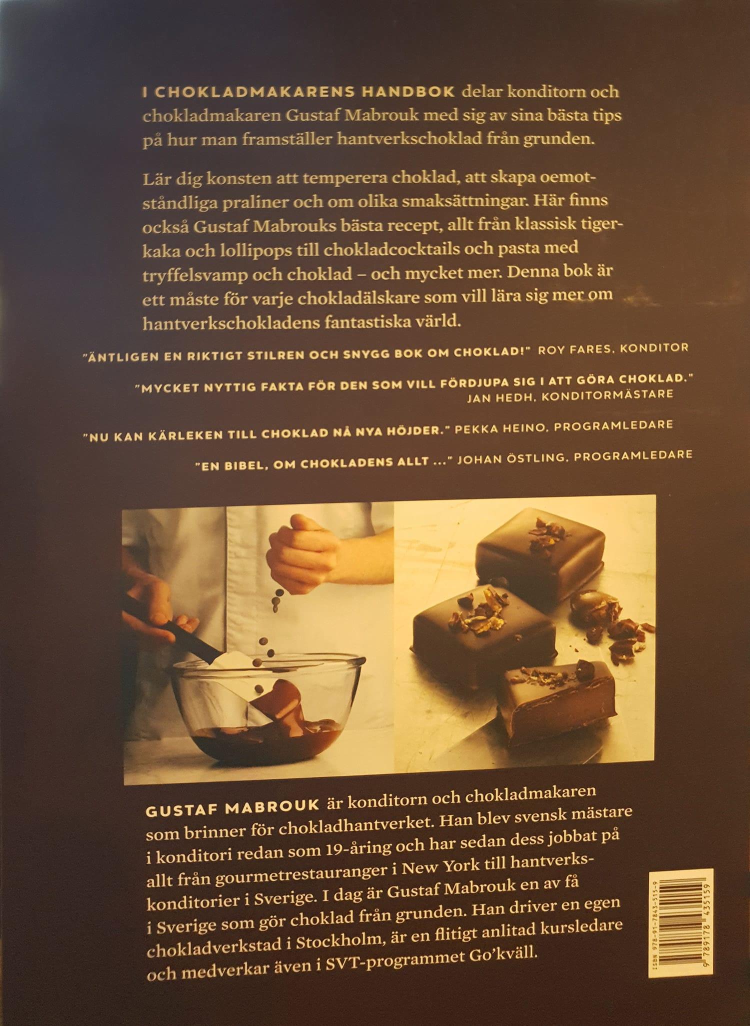Chokladmakarens handbok-baksidan
