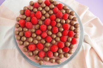 Cheesecake med chokoadekagebund