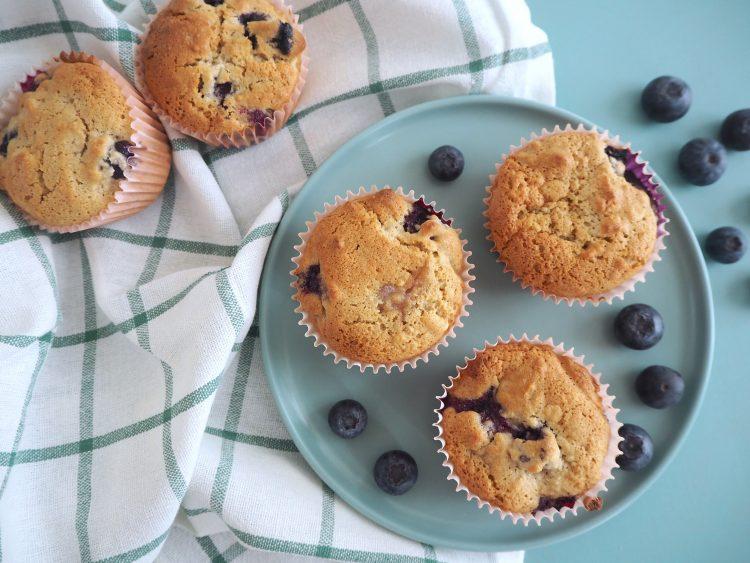 Blåbærmuffins uden gluten