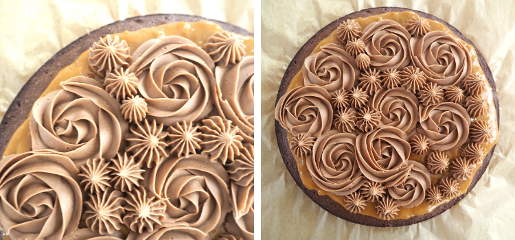 Brownie med karamel