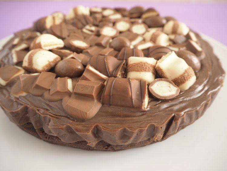 Chokoladekage med nutella fudge