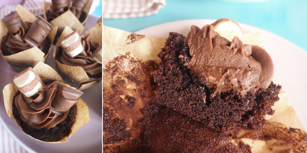 Chokolademuffins med nutella