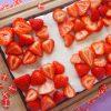 Flagkage med jordbær