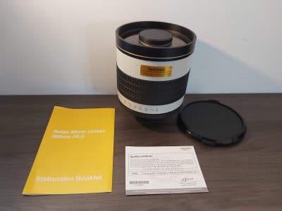 Samyang 800mm f8 lens (M42 vatting)