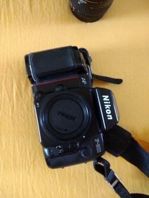 Nikon F-801+lens+kabel afstandsbediening