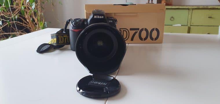 Nikon D700 body, toebehoren en lenzenset