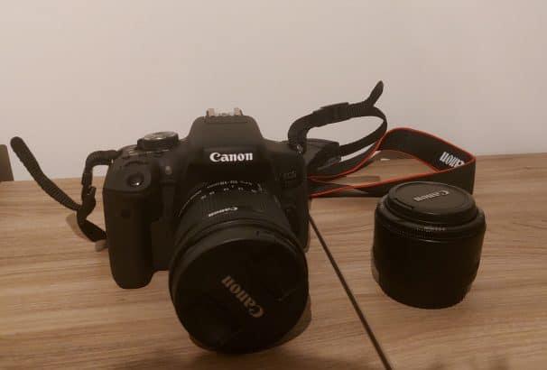 Canon 750D + 2 objectieven + rugzak