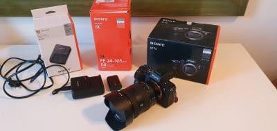 Sony A7m3 + Sony FE 24-105 F4 G OSS + Accessoires