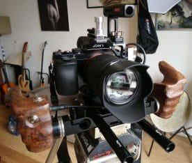 SONY A7 kit 28_70 lens Tila cage walnut Grips