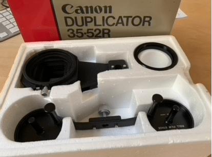 Dia & film duplicator met balg 35/52 Canon
