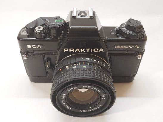 Praktica BCA + Pentacon 50mm / f1.8 lens