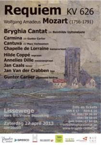 Cantuva Requiem Mozart Lissewege