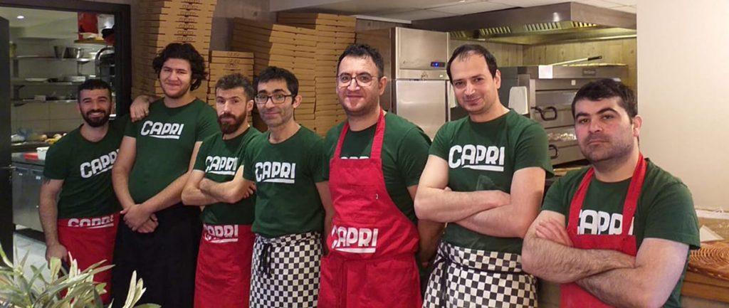 ansatte på capri restaurant os