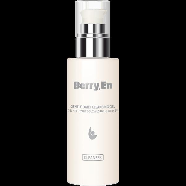 En 125 ml cleanser fra Berry.En med dispenser, der fjerner urenheder og efterlader huden blød og lækker.