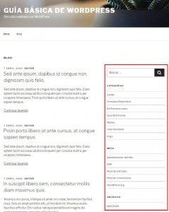 Qué son los Widgets de WordPress Sidebar