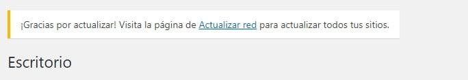 WordPress Multisitio - Actualizar la red