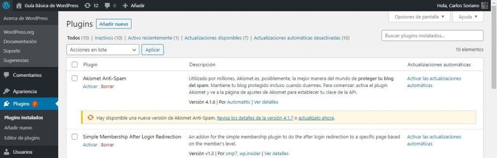 Guía Básica de WordPress Plugins