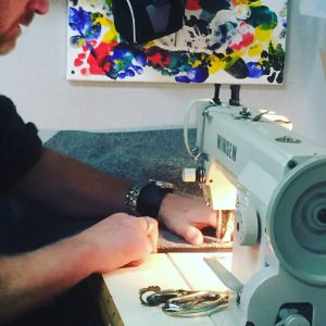 On the sewing machine