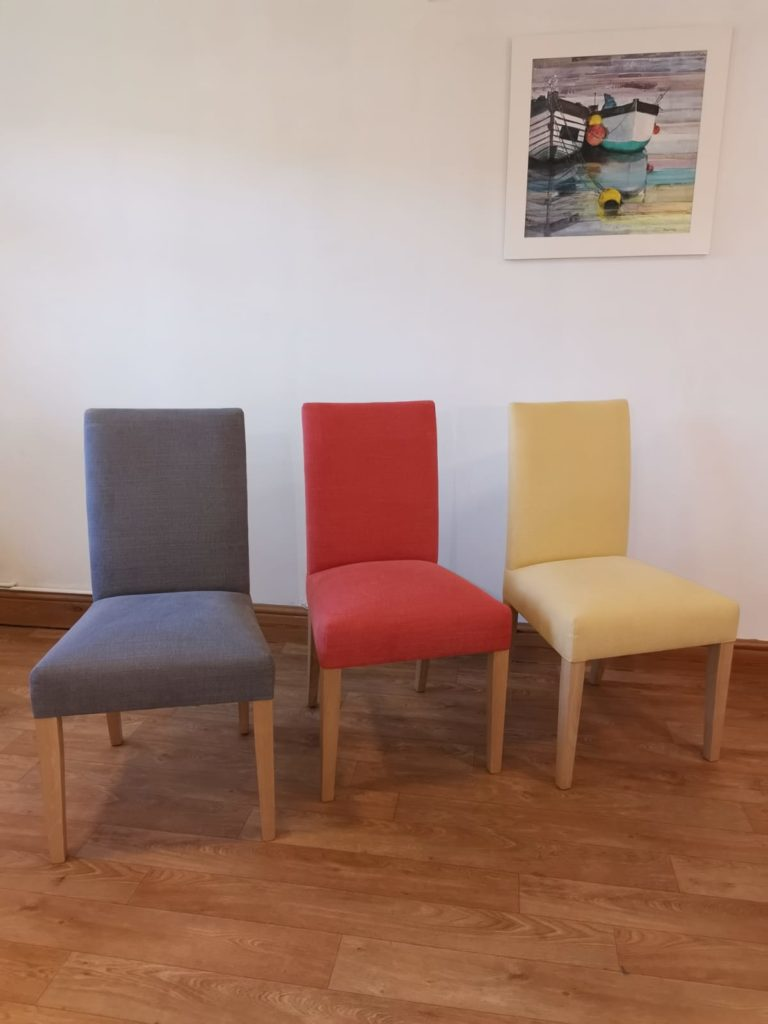 Rampart dining chairs in various colours