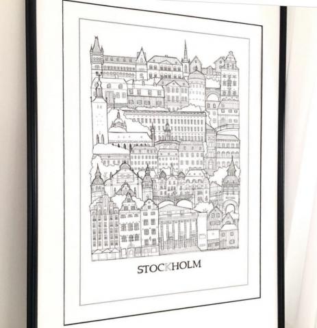 Poster över Stockholm