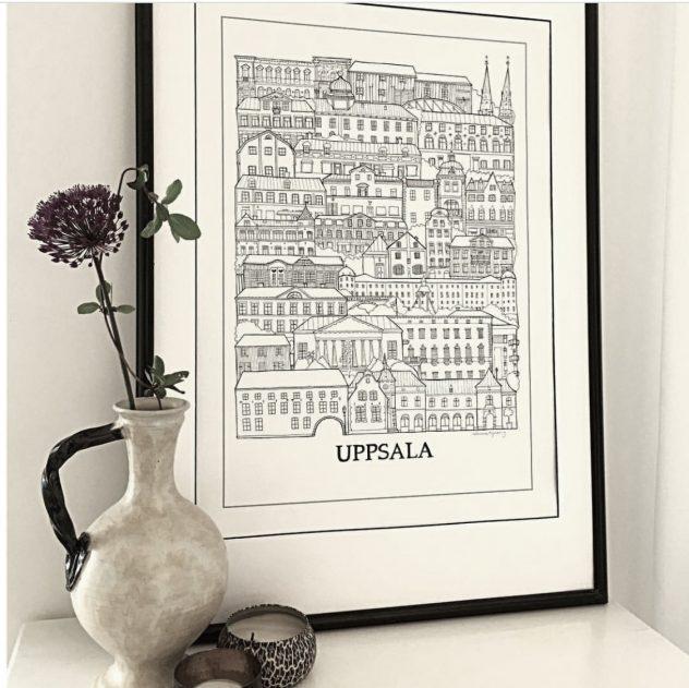 Poster över Uppsala