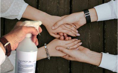 Désinfection des mains et des surfaces