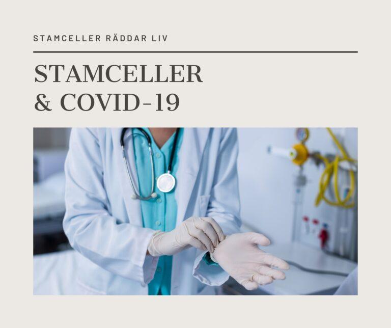 COVID-19 patienter behandlas med stamceller