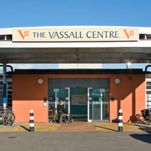 Front entrance of the Vassall Centre