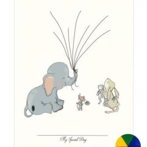 Elephant balloon multicolour