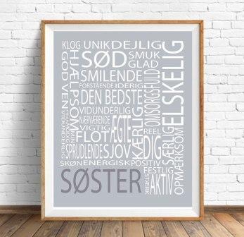 Plakat A5 SØSTER tekst